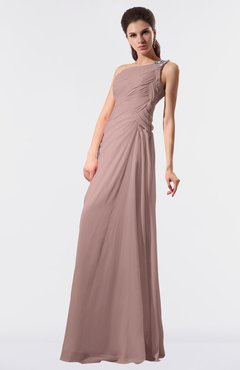 Colsbm Moriah Blush Pink Simple Sheath Sleeveless Chiffon Floor Length Sequin Bridesmaid Dresses