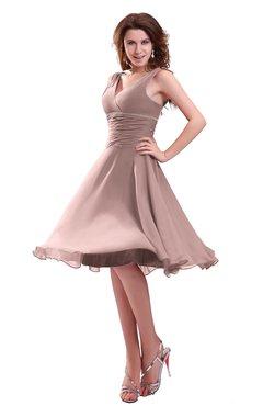 ColsBM Marina Blush Pink Informal Zipper Chiffon Knee Length Sequin Bridesmaid Dresses