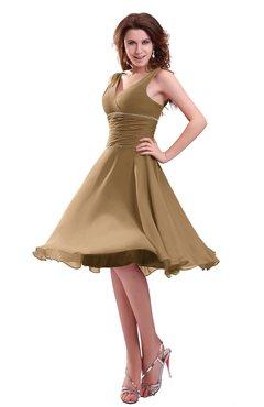 4e40d90758e8 ColsBM Marina Indian Tan Informal Zipper Chiffon Knee Length Sequin Bridesmaid  Dresses