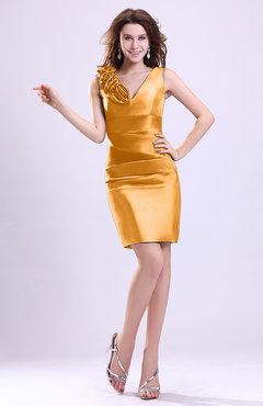 06de5389669 ColsBM Myra Apricot Modest Column Sleeveless Taffeta Ruching Graduation  Dresses