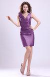 ColsBM Myra Hyacinth Modest Column Sleeveless Taffeta Ruching Graduation Dresses