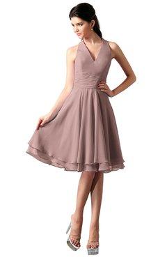 ColsBM Holly Blush Pink Simple A-line Sleeveless Zipper Chiffon Graduation Dresses