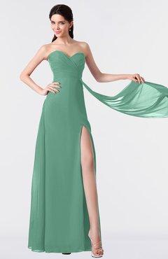 ColsBM Vivian Beryl Green Modern A-line Sleeveless Backless Split-Front Bridesmaid Dresses