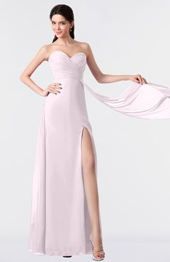 ColsBM Vivian Blush Modern A-line Sleeveless Backless Split-Front Bridesmaid Dresses