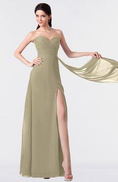 ColsBM Vivian Candied Ginger Modern A-line Sleeveless Backless Split-Front Bridesmaid Dresses