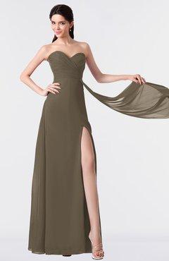ColsBM Vivian Carafe Brown Modern A-line Sleeveless Backless Split-Front Bridesmaid Dresses