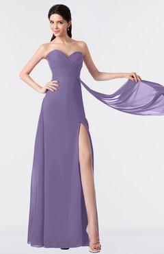 ColsBM Vivian Chalk Violet Modern A-line Sleeveless Backless Split-Front Bridesmaid Dresses