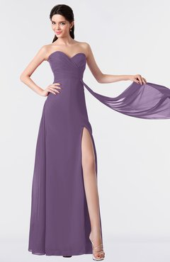 ColsBM Vivian Chinese Violet Modern A-line Sleeveless Backless Split-Front Bridesmaid Dresses