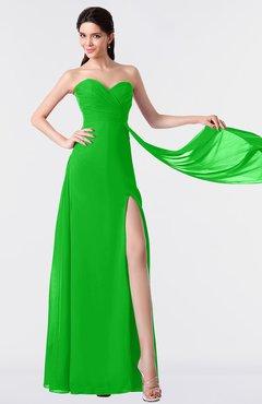 ColsBM Vivian Classic Green Modern A-line Sleeveless Backless Split-Front Bridesmaid Dresses