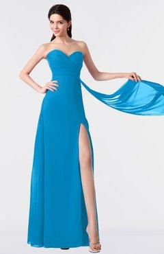 ColsBM Vivian Cornflower Blue Modern A-line Sleeveless Backless Split-Front Bridesmaid Dresses