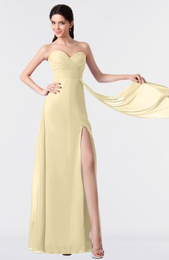 ColsBM Vivian Cornhusk Modern A-line Sleeveless Backless Split-Front Bridesmaid Dresses