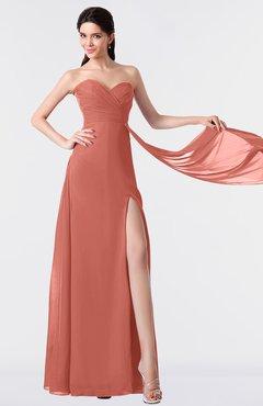 ColsBM Vivian Crabapple Modern A-line Sleeveless Backless Split-Front Bridesmaid Dresses