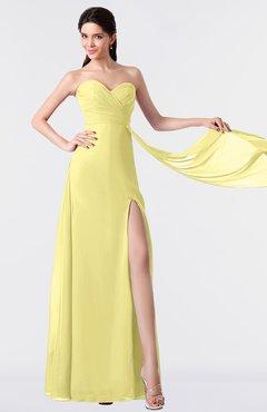 ColsBM Vivian Daffodil Modern A-line Sleeveless Backless Split-Front Bridesmaid Dresses