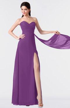 ColsBM Vivian Dahlia Modern A-line Sleeveless Backless Split-Front Bridesmaid Dresses