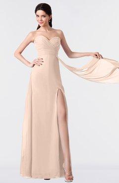 ColsBM Vivian Fresh Salmon Modern A-line Sleeveless Backless Split-Front Bridesmaid Dresses
