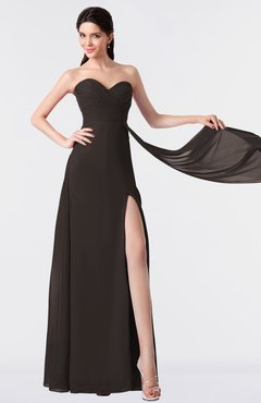 ColsBM Vivian Fudge Brown Modern A-line Sleeveless Backless Split-Front Bridesmaid Dresses