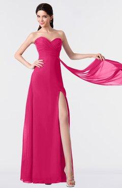 ColsBM Vivian Fuschia Modern A-line Sleeveless Backless Split-Front Bridesmaid Dresses