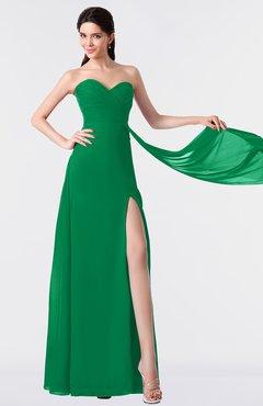 ColsBM Vivian Green Modern A-line Sleeveless Backless Split-Front Bridesmaid Dresses