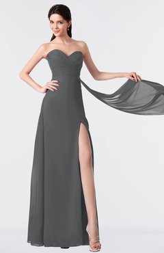 ColsBM Vivian Grey Modern A-line Sleeveless Backless Split-Front Bridesmaid Dresses