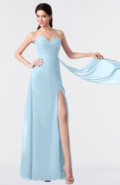 ColsBM Vivian Ice Blue Modern A-line Sleeveless Backless Split-Front Bridesmaid Dresses