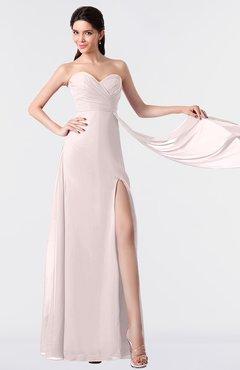 ColsBM Vivian Light Pink Modern A-line Sleeveless Backless Split-Front Bridesmaid Dresses