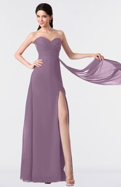 ColsBM Vivian Mauve Modern A-line Sleeveless Backless Split-Front Bridesmaid Dresses