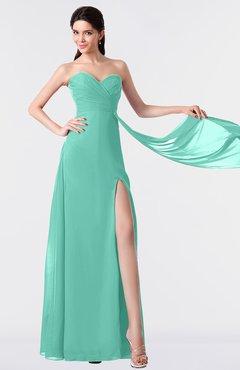 ColsBM Vivian Mint Green Modern A-line Sleeveless Backless Split-Front Bridesmaid Dresses