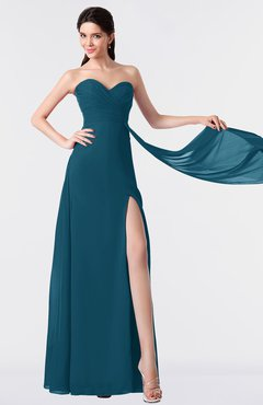 ColsBM Vivian Moroccan Blue Modern A-line Sleeveless Backless Split-Front Bridesmaid Dresses