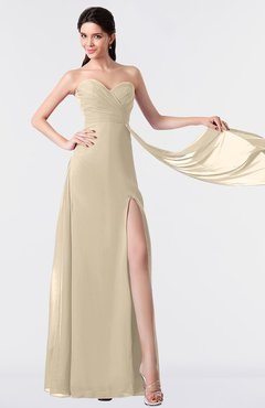 ColsBM Vivian Novelle Peach Modern A-line Sleeveless Backless Split-Front Bridesmaid Dresses