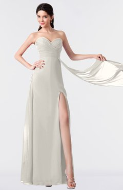 ColsBM Vivian Off White Modern A-line Sleeveless Backless Split-Front Bridesmaid Dresses