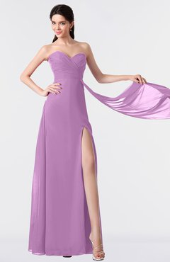 ColsBM Vivian Orchid Modern A-line Sleeveless Backless Split-Front Bridesmaid Dresses