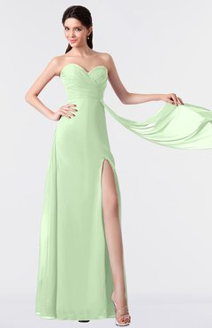 ColsBM Vivian Pale Green Modern A-line Sleeveless Backless Split-Front Bridesmaid Dresses