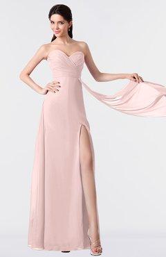 ColsBM Vivian Pastel Pink Modern A-line Sleeveless Backless Split-Front Bridesmaid Dresses