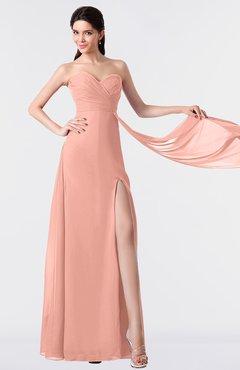 0accc7537d16 ColsBM Vivian Peach Modern A-line Sleeveless Backless Split-Front  Bridesmaid Dresses