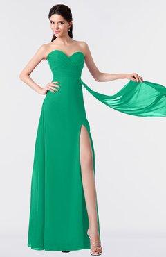 ColsBM Vivian Pepper Green Modern A-line Sleeveless Backless Split-Front Bridesmaid Dresses