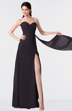 ColsBM Vivian Perfect Plum Modern A-line Sleeveless Backless Split-Front Bridesmaid Dresses