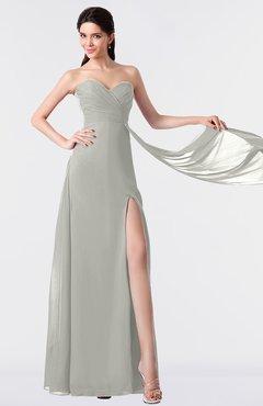 ColsBM Vivian Platinum Modern A-line Sleeveless Backless Split-Front Bridesmaid Dresses