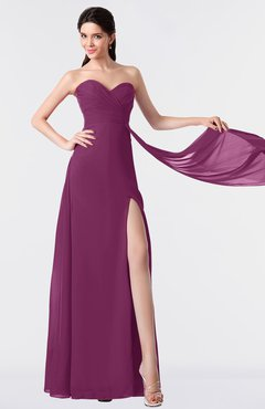ColsBM Vivian Raspberry Modern A-line Sleeveless Backless Split-Front Bridesmaid Dresses
