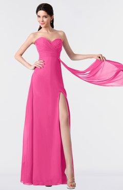 ColsBM Vivian Rose Pink Modern A-line Sleeveless Backless Split-Front Bridesmaid Dresses