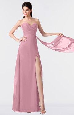 ColsBM Vivian Rosebloom Modern A-line Sleeveless Backless Split-Front Bridesmaid Dresses