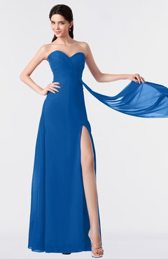 ColsBM Vivian Royal Blue Modern A-line Sleeveless Backless Split-Front Bridesmaid Dresses