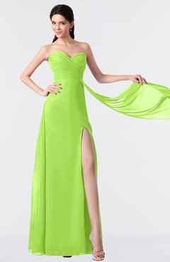 ColsBM Vivian Sharp Green Modern A-line Sleeveless Backless Split-Front Bridesmaid Dresses