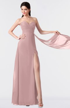 ColsBM Vivian Silver Pink Modern A-line Sleeveless Backless Split-Front Bridesmaid Dresses