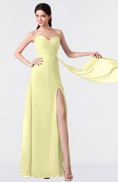 ColsBM Vivian Wax Yellow Modern A-line Sleeveless Backless Split-Front Bridesmaid Dresses