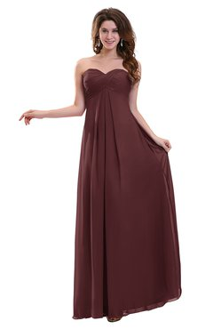 ColsBM Annalee Burgundy Plain Sweetheart Sleeveless Backless Chiffon Floor Length Bridesmaid Dresses