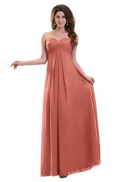 ColsBM Annalee Crabapple Plain Sweetheart Sleeveless Backless Chiffon Floor Length Bridesmaid Dresses