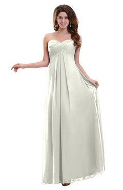 ColsBM Annalee Cream Plain Sweetheart Sleeveless Backless Chiffon Floor Length Bridesmaid Dresses