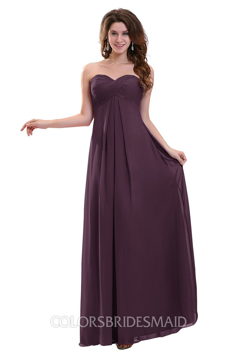 9a71c8911c5c ColsBM Annalee Plum Plain Sweetheart Sleeveless Backless Chiffon Floor  Length Bridesmaid Dresses
