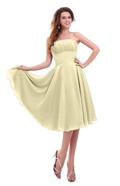 ColsBM Lena Anise Flower Plain Strapless Zip up Knee Length Pleated Prom Dresses