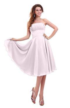 ColsBM Lena Blush Plain Strapless Zip up Knee Length Pleated Prom Dresses